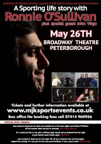 Ronnie O'Sullivan Peterborough